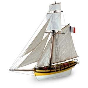 Kuter Le Renard Artesania 22401 drewniany statek 1-50