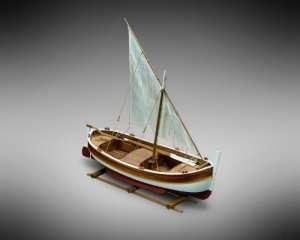 Łódź Gozzo vel MM07 Mamoli drewniany model 1-28