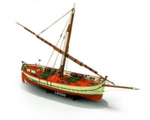 Łódź Il Leudo Mamoli MV29 drewniany model statku 1-32