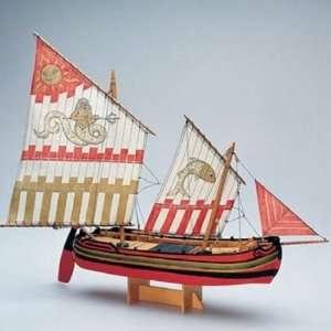 Łódź Trabaccolo Amati 1562 drewniany model