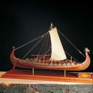 Łódź Wikingów Drakkar Amati 140601 drewniany model