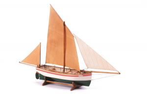 Łódź rybacka Le Bayard drewniany model BB903 skala 1-30