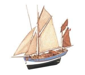 Łódź rybacka Marie Jeanne Artesania 22170-N drewniany statek 1-50