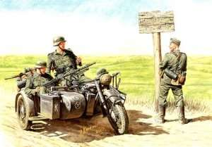 MB 3539 Niemieccy motocykliści, 1940-1943
