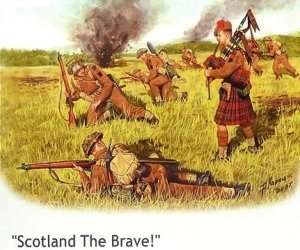 MB 3547 Figurki brytyjskich żołnierzy - regiment szkocki