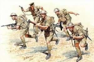MB 3580 Brytyjska piechota w akcji (Afryka Północna 1941/43 ) . Walki pustyni.