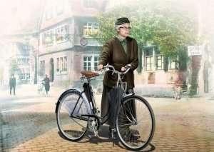 Master Box 35166 Pani Muller kobieta z rowerem