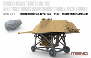 Meng SPS-061 Sd.Kfz. 182 King Tiger Turret Maintenance Stand and Muzzle Cove