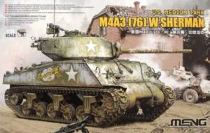 Meng TS-043 Czołg M4A3(76)W Sherman model 1-35