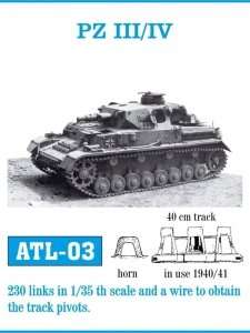 Metalowe gąsienice do czołgu PZ III - PZ IV