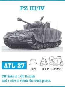 Metalowe gąsienice do czołgu Panzer III/IV