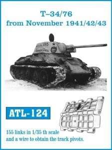 Metalowe gąsienice do czołgu T-34/76 od listopada 1941,42,43