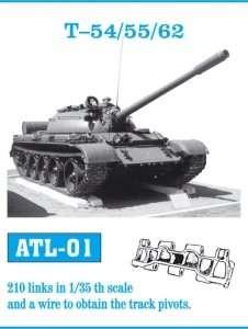 Metalowe gąsienice do czołgu T-54/55/62