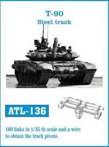 Metalowe gąsienice do czołgu T90