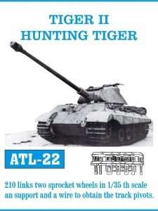 Metalowe gąsienice do czołgu Tiger II - Hunting Tiger