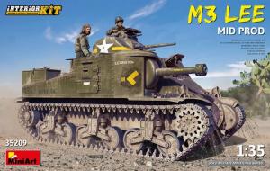 MiniArt 35209 Czołg M3 Lee z wnętrzem model 1-35