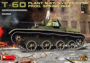 MiniArt 35260 Czołg T-60 1942 z wnętrzem model 1-35