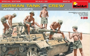 MiniArt 35278 Niemiecka załoga czołgu Afrika Korps