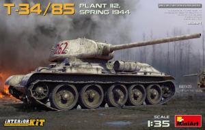 MiniArt 35294 Czołg T-34/85 Plant 112 wiosna 1944 model 1-35 z wnętrzem