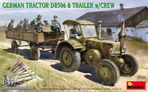 MiniArt 35314 Niemiecki traktor D8506 z przyczepą i żołnierzami