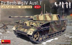 MiniArt 35344 Czołg Pz.Beob.Wg. IV Ausf.J model 2 w 1 z figurkami