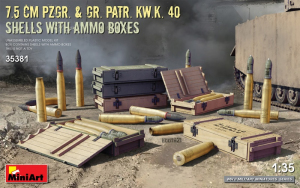 MiniArt 35381 Amunicja 7.5cm Pzgr. i Gr. Part. Kw.K. 40 skala 1-35