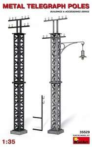 MiniArt 35529 Metal Telegraph Poles