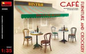 MiniArt 35569 Cafe Furniture and Crockery