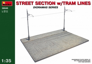 MiniArt 36040 Fragment ulicy z linami tramwajowymi