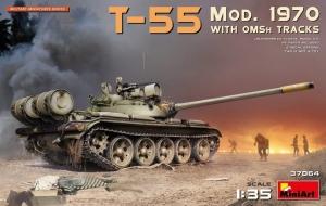 MiniArt 37064 Czołg T-55 Mod. 1970 z gąsienicami OMSh