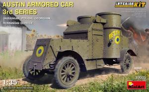 MiniArt 39005 Samochód pancerny Austin z wnętrzem polska kalkomania