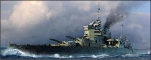 Model pancernika HMS Valiant 1939 Trumpeter 05796