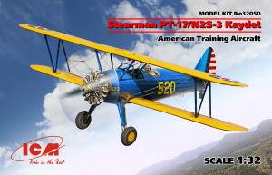 Model samolotu szkoleniowego Stearman PT-17/N2S-3 Kaydet ICm 32050