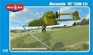 Model samolotu eksperymentalnego Moskalyev SAM-23 Mikromir 72-002