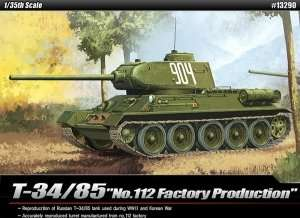 Model Academy 13290 czołg T34/85 No.112
