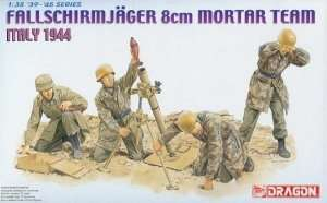 Model Dragon 6215 Fallschmirjager 8cm Mortar Team