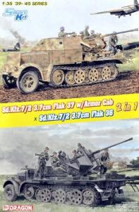 Model Dragon 6953 Sd.Kfz.7/2 3.7cm Flak 37 & Armor Cab / Sd.Kfz.7/2 3.7cm Flak 36 (2in1)