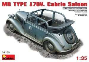 Model Mercedes Benz typ 170V. Cabrio Saloon MiniArt 35103