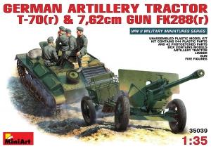 Model MiniArt 35039 ciągnik T-70(r) z działem 76mm i załogą