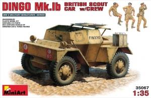 Model MiniArt 35067 pojazd zwiadowczy Dingo Mk.1b z załogą