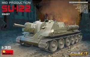 Model MiniArt 35197 działo samobieżne SU-122 w wnętrzem