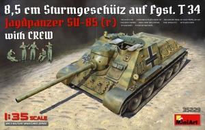 Model MiniArt 35229 Jagdpanzer SU-85 (R) z załogą