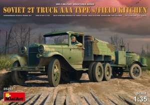 Model MiniArt 35257 radziecka ciężarówka 2t AAA z kuchnią polową