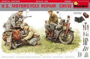 Model MiniArt 35284 Mechanicy z motocyklami i narzędziami