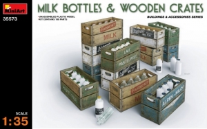 Model MiniArt 35573 Milk Bottles & wooden crates
