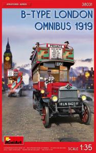 Model MiniArt 38031 Londyński autobus piętrowy Typ B 1919