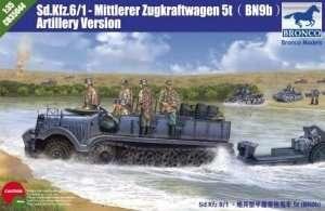 Model Sd.Kfz.6/1 Mittlerer Zugkraftwagen 5t wersja artyleryjska
