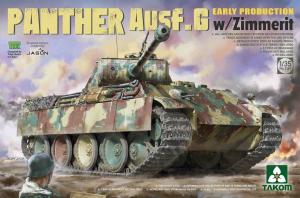 Model Takom 2134 czołg Panther Ausf.G z Zimmeritem