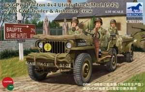 Model US Jeep 1/4ton 4x4 Utility Truck with 10-cwt Bronco 35106