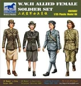 Model W.W.II Allied Female Soldier Set Bronco 35037